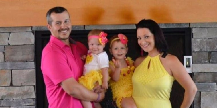 Chris and Shanann Watts with their two children, Bella and Celeste.