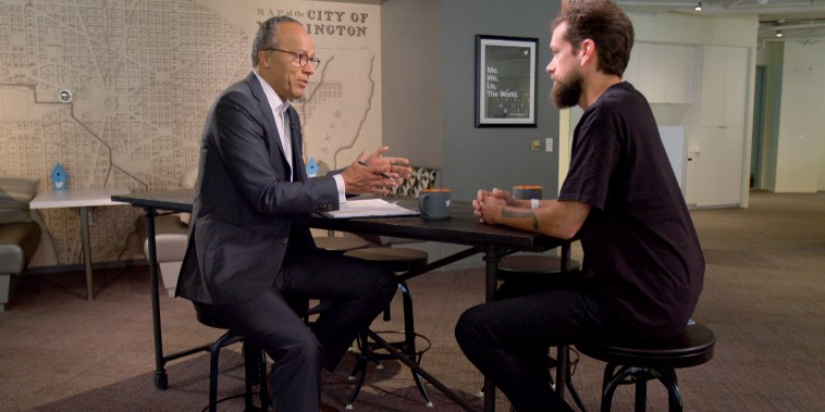 Lester Holt interviews Twitter CEO Jack Dorsey.