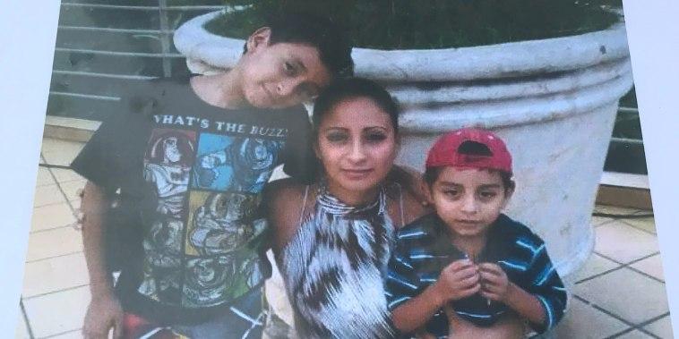 Raquel and her sons in El Salvador.