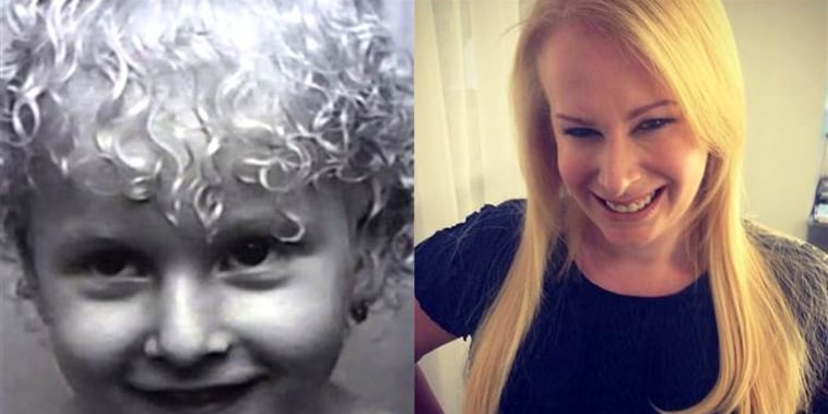 The author, Aly Walansky, at 2 years old and present day.
