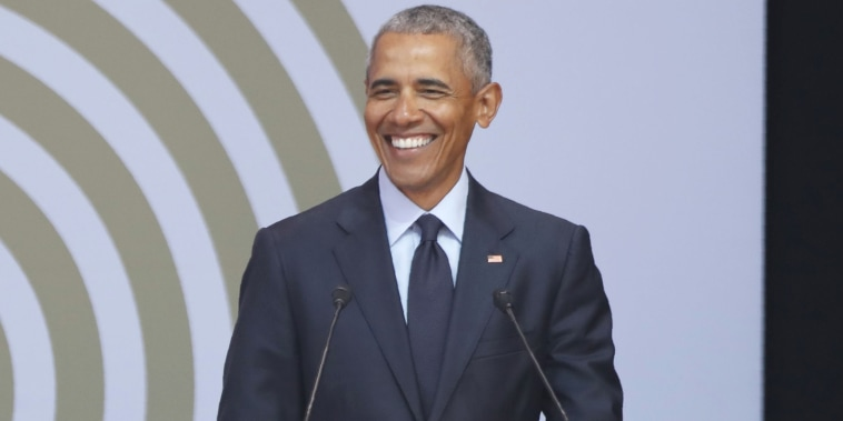 Former president Obama for a post about his personal reading list