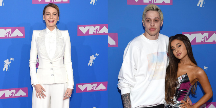 Blake Lively, Ariana Grande and Pete Davidson