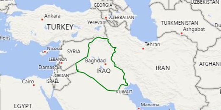 Image: Map showing Iraq