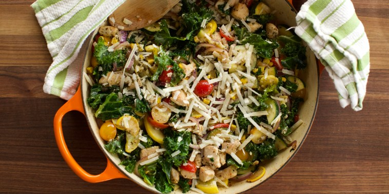 Pesto Chicken Skillet Supper from the Pioneer Woman