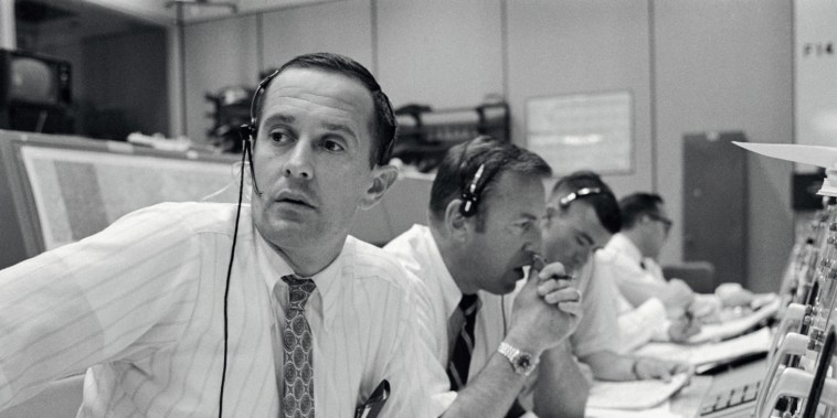 Image: Spacecraft communicators  keep in contact with the Apollo 11 astronauts during their lunar landing mission