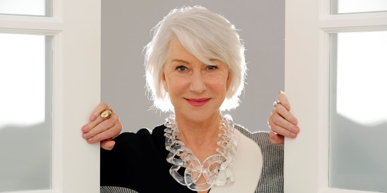 """Image: Actress Helen Mirren poses for a portrait in promotion of her role playing the heiress to the Winchester fortune in the upcoming film """"Winchester"""" in Los Angeles"""