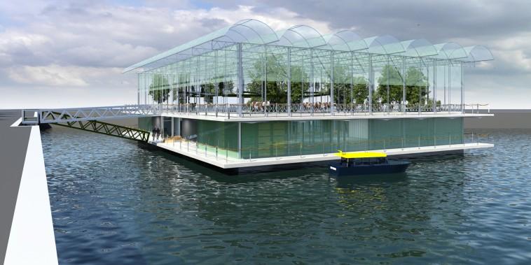 Image: Netherlands Floating Dairy Farm