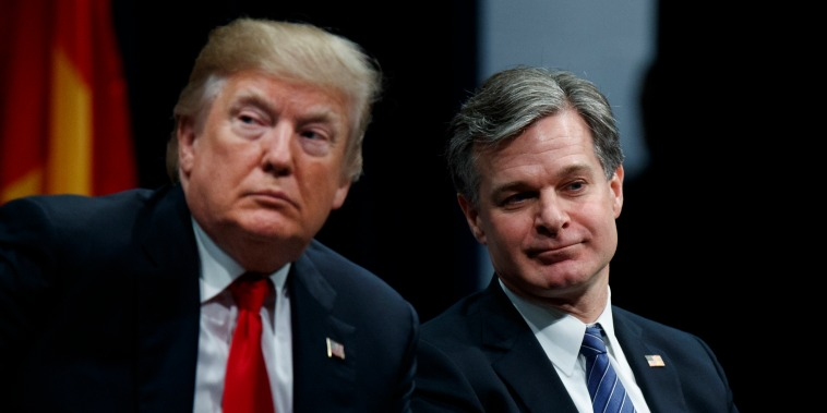 Image: Donald Trump, Christopher Wray