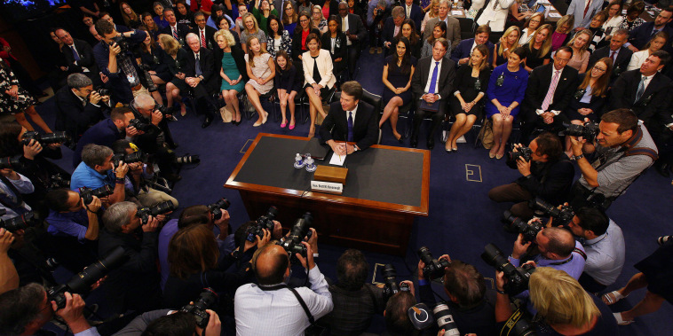 Image: Kavanaugh arrives to testify before his Senate confirmation hearing