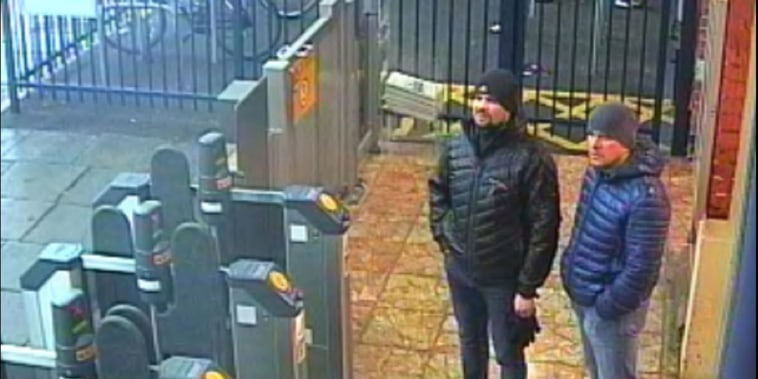 Image: Alexander Petrov and Ruslan Boshirov at Salisbury train station on March 3