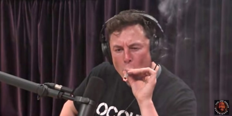 Elon Musk appears to smoke marijuana on Joe Rogan's podcast