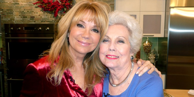 Kathie Lee with her mom