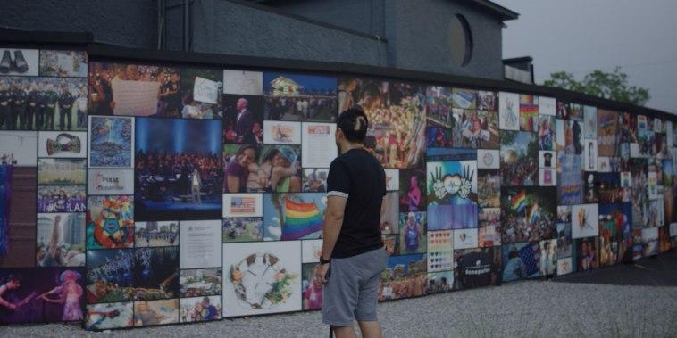 Pulse shooting survivor Leo Melendez at memorial