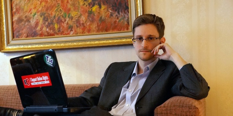 Image: Edward Snowden Gives Interview In Russia