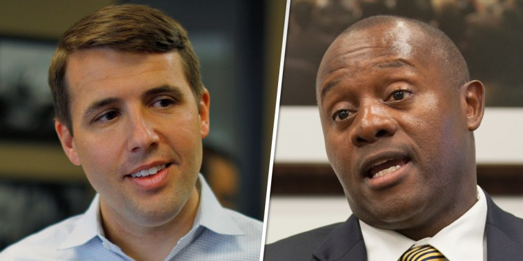 Democratic candidate Chris Pappas and Republican candidate Eddie Edwards