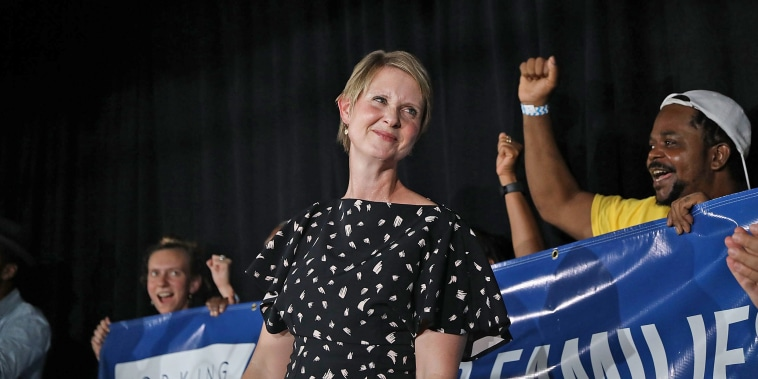 Image: Cynthia Nixon Holds Primary Night Watch Party In Brooklyn With Other Progressive Democrats On The Ballot