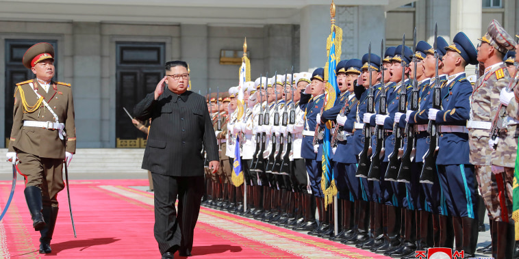 North Korean leader Kim Jong Un attends celebrations marking the 70th anniversary of North Korea's foundation in Pyongyang