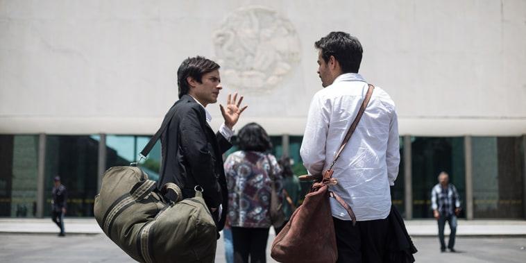 Image: Gael Garcia Bernal, Leonardo Ortizgris