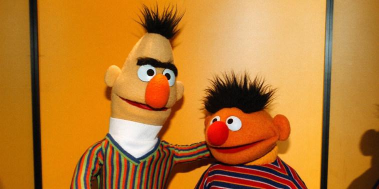 Image: Bert & Ernie, 'Sesamstra?e' ARD, Sesamstrasse,, (Photo by Pet