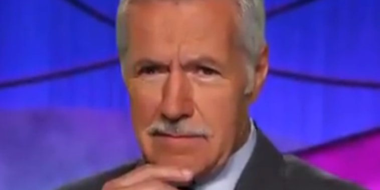 Alex Trebek with a mustache