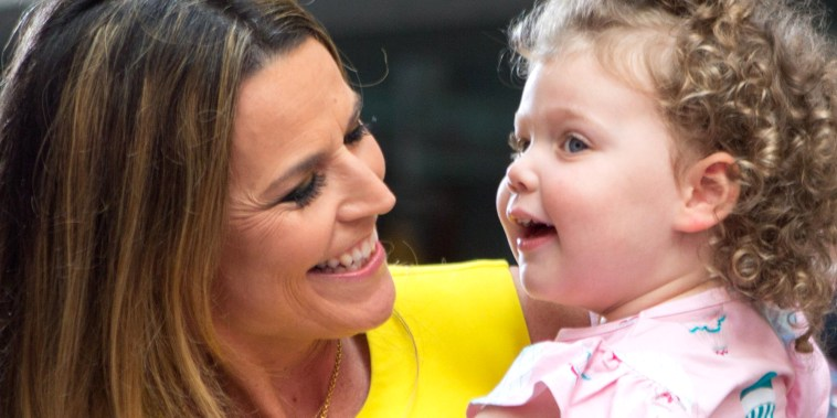 Savannah Guthrie with daughter Vale