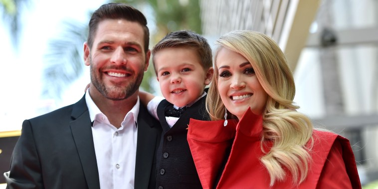 Carrie Underwood, Mike Fisher, Isaiah Michael
