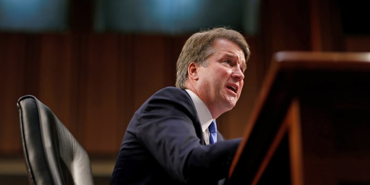 Image: Supreme Court nominee Kavanaugh testifies during his confirmation hearing before the Senate Judiciary Committee in Washington.