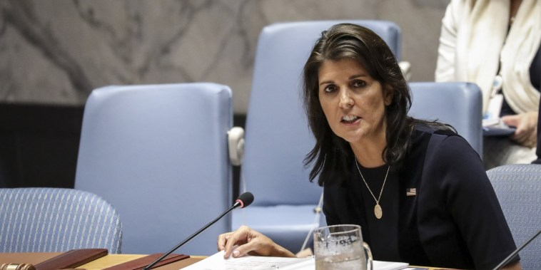 Image: Nikki Haley Chairs UN Security Council Meeting On North Korea Sanctions