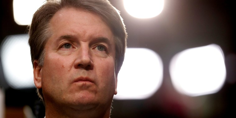 Image: U.S. Supreme Court Nominee Judge Kavanaugh during his Senate confirmation hearing in Washington
