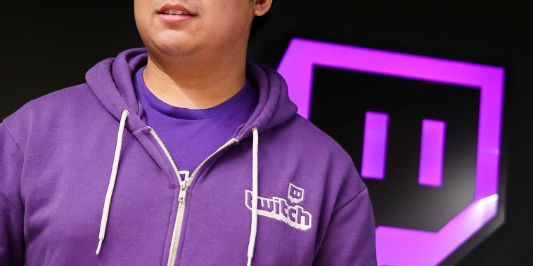 A man leaves the offices of Twitch Interactive Inc, a social video platform and gaming community owned by Amazon, in San Francisco, California