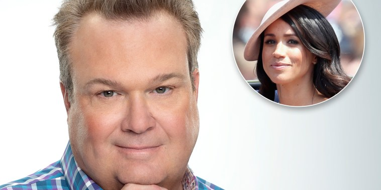 Modern Family's Eric Stonestreet dresses as Meghan Markle for Halloween.