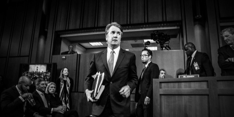 Image: Brett Kavanaugh arrives for his confirmation hearing