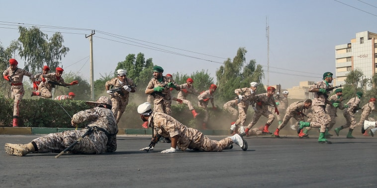 Image: Iran military parade attack