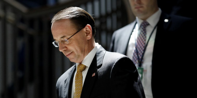 What happens if Rosenstein leaves the DOJ?
