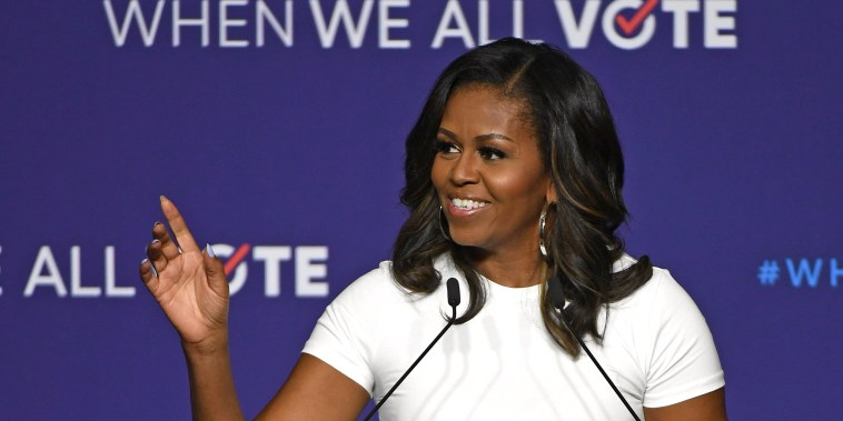 Image: Michelle Obama Attends 'When We All Vote' Rally In Las Vegas