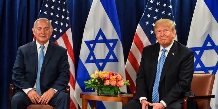 Image: President Donald Trump meets with Israeli Prime Minister Benjamin Netanyahu