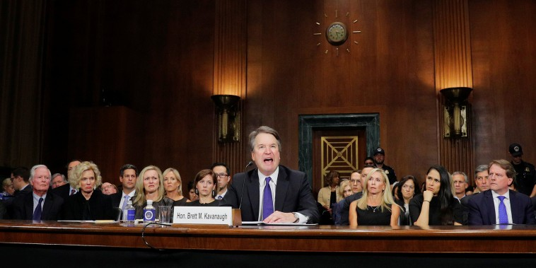Image: U.S. Supreme Court nominee Kavanaugh testifies before a Senate Judiciary Committee confirmation hearing on Capitol Hill in Washington