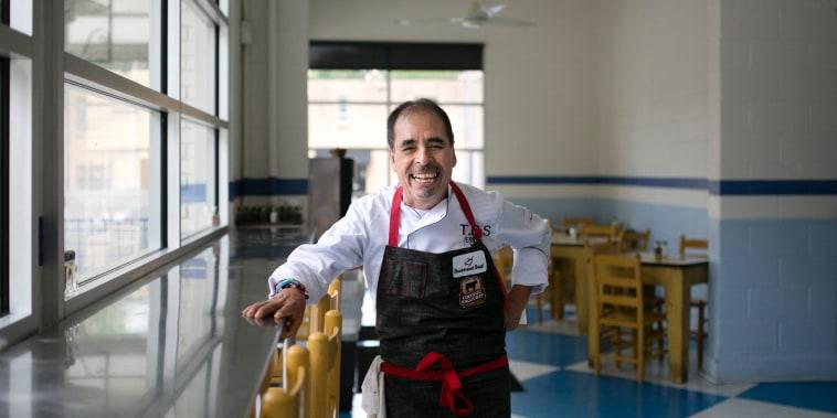 Image: Chef Eddie Hernandez at the Taqueria del Sol