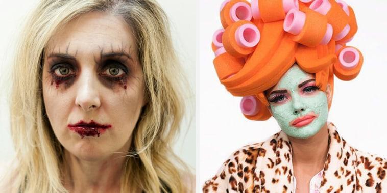 Halloween makeup ideas, scarecrow makeup, scary Halloween makeup, Halloween face paint, easy Halloween makeup, makeup tutorial, Halloween makeup looks