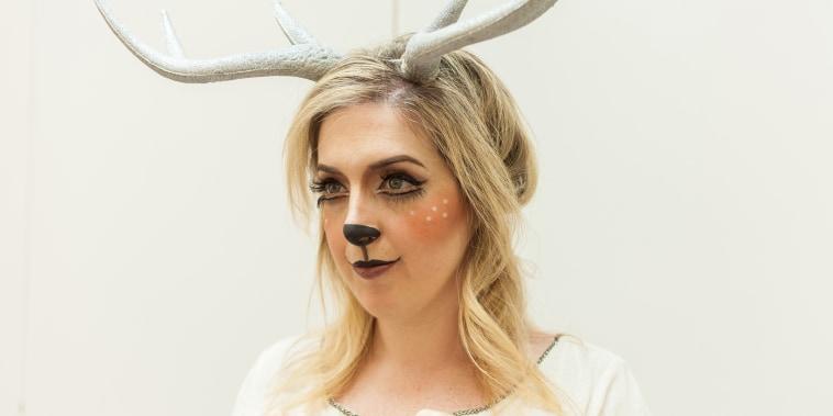 deer makeup, deer Halloween costume, Halloween makeup ideas, Halloween makeup tutorial, deer costume