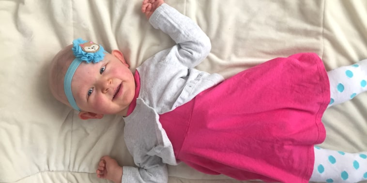 A little girl who is the first person ever to have a new genetic disorder