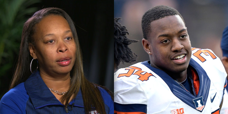 Mother of football player who collapsed during game