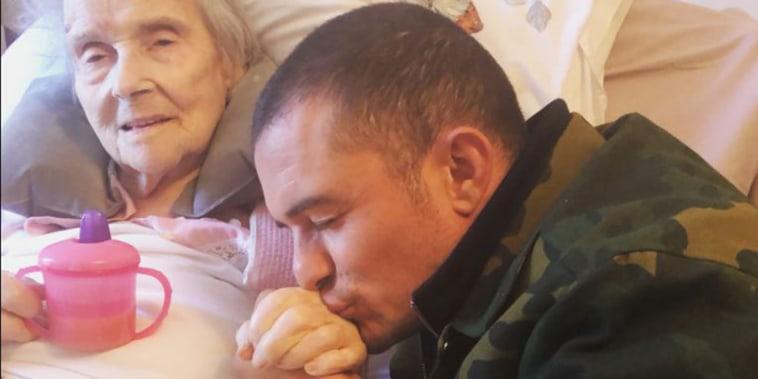 Orlando Bloom with grandmother