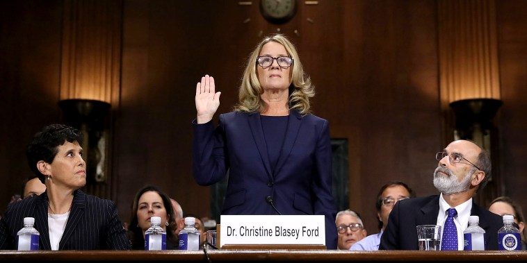 Image: Dr. Christine Blasey Ford And Supreme Court Nominee Brett Kavanaugh Testify To Senate Judiciary Committee