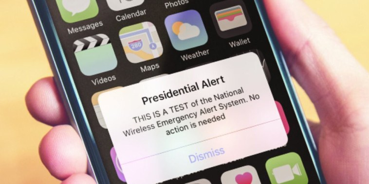 FEMA is testing the Wireless Emergency Alert system nationwide.