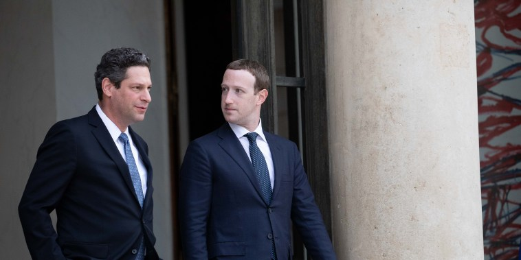 """Image: Global Technology Leaders Attend """"Tech for Good"""" Meeting With France's President Emmanuel Macron"""