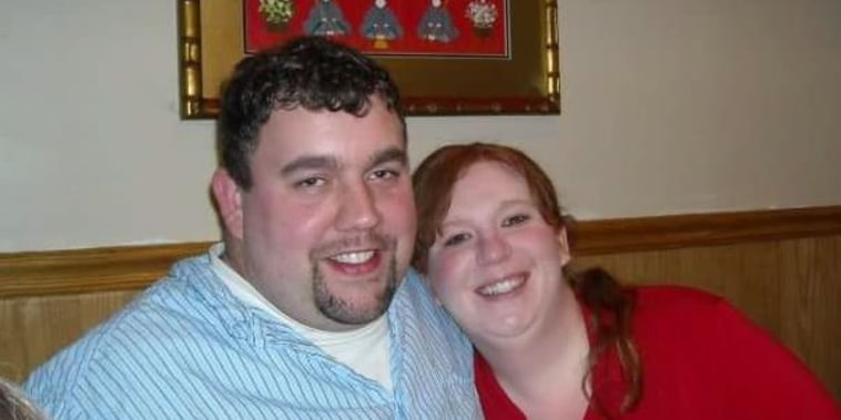 McKenzie Colby with her husband.