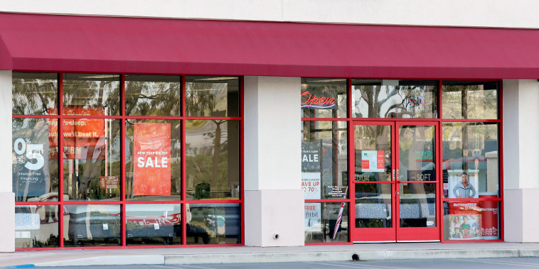 Image: A Mattress Firm store, a brand owned by Steinhoff, in Encinitas, California on Jan. 25, 2018.