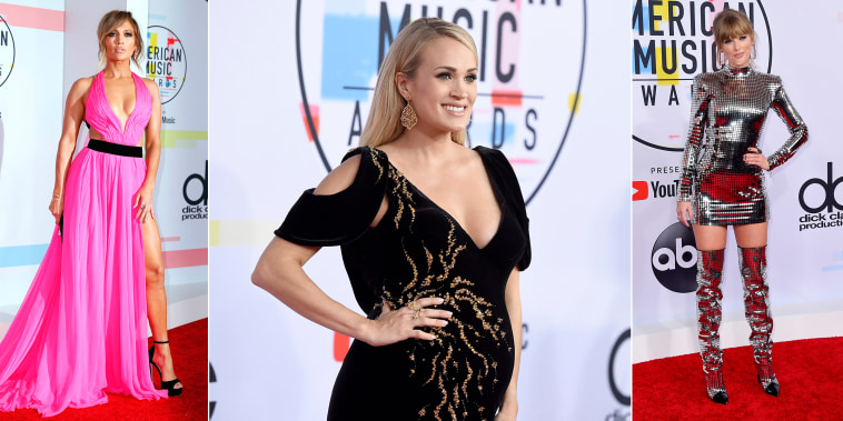 Stars shone on the 2018 American Musica Awards red carpet.