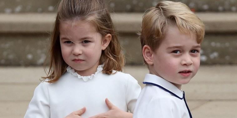 Prince George and his sister Princess Charlotte